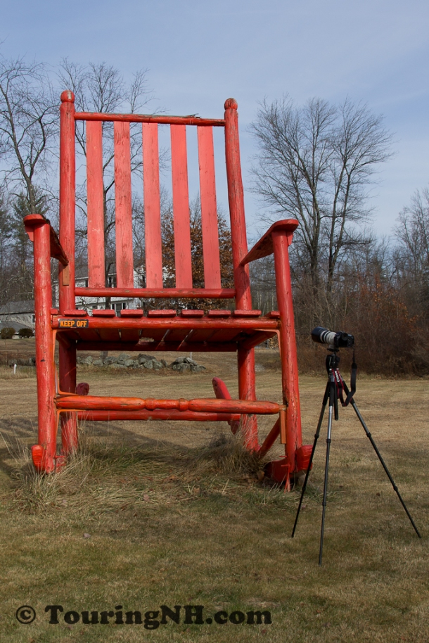 Note the size of this chair compared to my camera and tripod