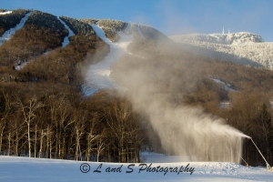 Snow guns blazing