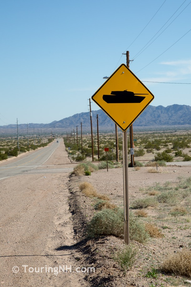 """How often do you see a """"Tank Crossing"""" sign?"""