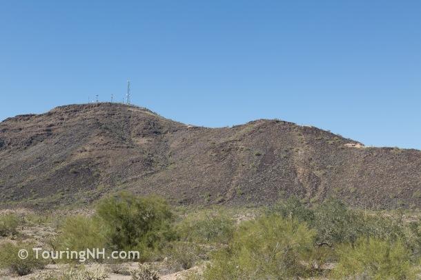 As seen from the desert below